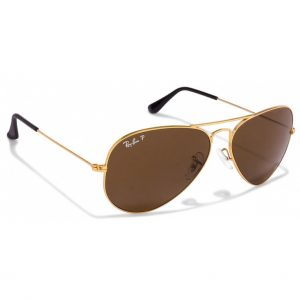 Ray Ban Aviador Marrón Polarizado