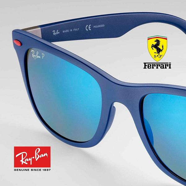 Wayfarer Ferrari Collection Azul – Polarizado